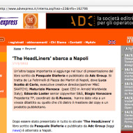 "ADV Express: ""The Headliners"" sbarca a Napoli."